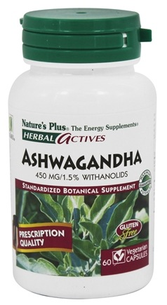 Nature's Plus - Herbal Actives Ashwagandha 450 mg. - 60 Vegetarian Capsules