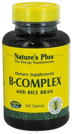 DROPPED: Nature's Plus - B-Complex with Rice Bran - 180 Tablets