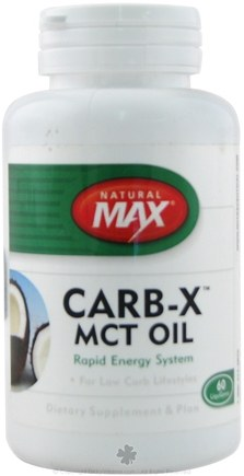 DROPPED: Natural Max - Carb-X MCT Oil- Rapid Energy System - 60 Softgels