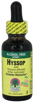 DROPPED: Nature's Answer - Hyssop Herbs Alcohol Free - 1 oz.