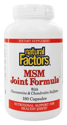 Natural Factors - MSM Joint Formula with Glucosamine & Chondroitin Sulfates - 180 Capsules