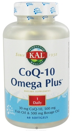 DROPPED: Kal - CoQ-10 Omega Plus - 60 Softgels CLEARANCED PRICED