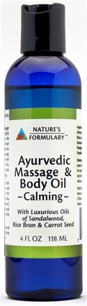 DROPPED: Nature's Formulary - Calming Massage Oil - 4 oz. CLEARANCE PRICED