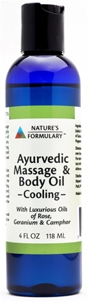 DROPPED: Nature's Formulary - Cooling Massage Oil - 4 oz.