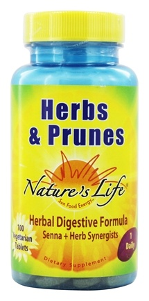 Nature's Life - Herbs & Prunes Herbal Digestive Formula - 100 Vegetarian Tablets