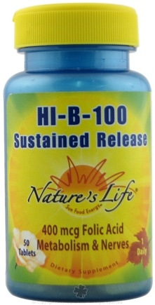 DROPPED: Nature's Life - Hi-B-100 Sustained Release - 50 Tablets CLEARANCE PRICED