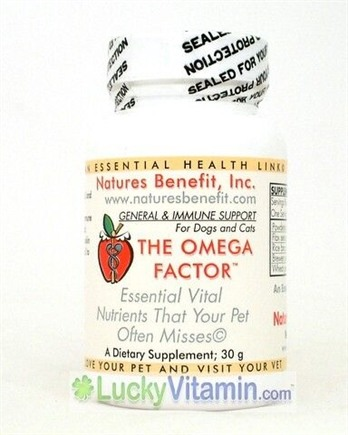 DROPPED: Nature's Benefit - The Omega Factor or Dogs & Cats - 30 Grams