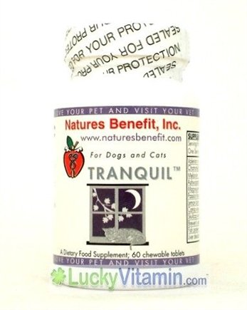 DROPPED: Nature's Benefit - Tranquil For Dogs & Cats - 60 Tablets