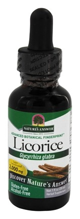Nature's Answer - Licorice Root Alcohol Free - 1 oz.