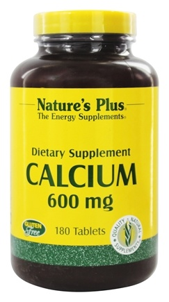 DROPPED: Nature's Plus - Calcium 600 mg. - 180 Tablets