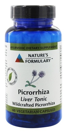 DROPPED: Nature's Formulary - Picrorrhiza - 60 Vegetarian Capsules