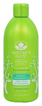 Nature's Gate - Vegan Conditioner Moisturizing Aloe Vera + Macadamia Oil - 18 oz.