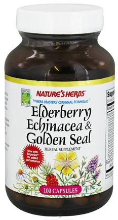 DROPPED: Nature's Herbs - Elderberry Echinacea-Golden Seal - 100 Capsules