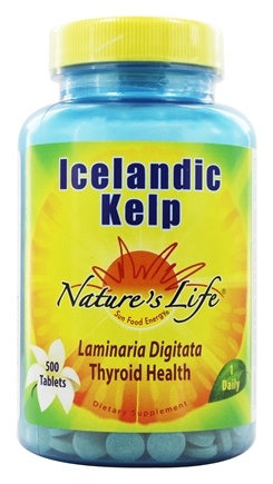 Nature's Life - Icelandic Kelp Thyroid Health - 500 Tablets