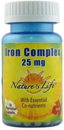 DROPPED: Nature's Life - Iron Complex - 50 Capsules CLEARANCE PRICED