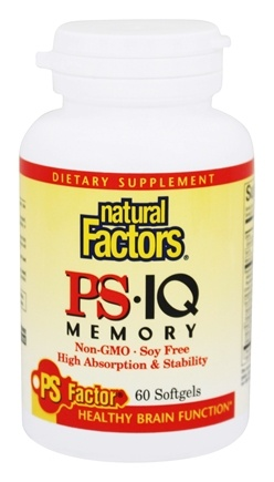 DROPPED: Natural Factors - PS-IQ with DHA & GLA 25 mg. - 60 Softgels