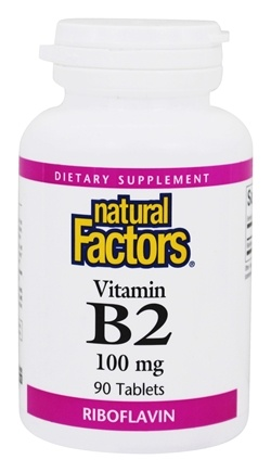 DROPPED: Natural Factors - Riboflavin B2 100 mg. - 90 Tablets