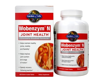 Garden of Life - Wobenzym N Healthy Inflammation and Joint Support - 400 Enteric-Coated Tablets (Formerly distributed by Mucos)