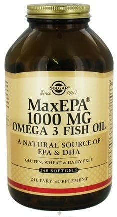 DROPPED: Solgar - MaxEPA Omega 3 Fish Oil Concentrate 1000 mg. - 240 Softgels