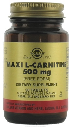 DROPPED: Solgar - Maxi L-Carnitine 500 mg. - 30 Tablets