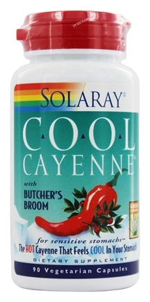 Solaray - Cool Cayenne with Butcher's Broom - 90 Capsules