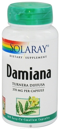 DROPPED: Solaray - Damiana Leaves 370 mg. - 100 Capsules