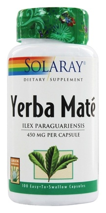 Solaray - Yerba Mate 450 mg. - 100 Capsules