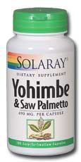 DROPPED: Solaray - Yohimbe And Saw Palmetto Proprietary Blend - 100 Capsules