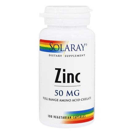 Solaray - Zinc 50 mg. - 100 Vegetarian Capsules