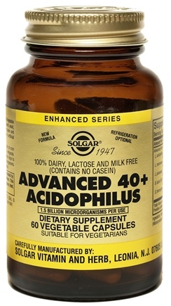 DROPPED: Solgar - Advanced 40+ Acidophilus - 60 Vegetarian Capsules