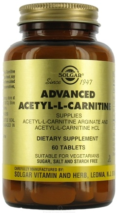 DROPPED: Solgar - Advanced Acetyl-L-Carnitine - 60 Tablets