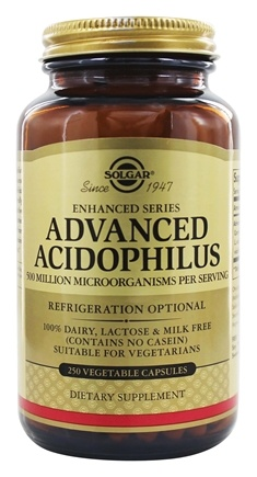 Solgar - Advanced Acidophilus - 250 Vegetarian Capsules