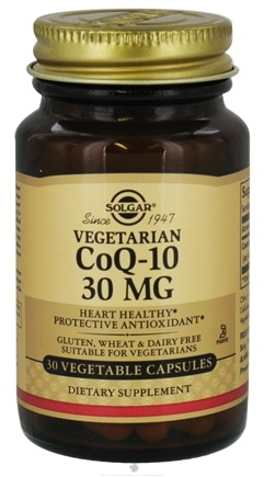 DROPPED: Solgar - Vegetarian CoQ-10 30 mg. - 30 Vegetarian Capsules CLEARANCE PRICED