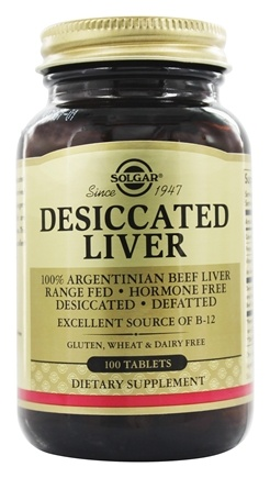 Solgar - Desiccated Liver - 100 Tablets