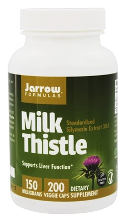 Jarrow Formulas - Milk Thistle Standardized Silymarin Extract 30:1 150 mg. - 200 Capsules