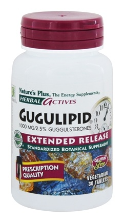 Nature's Plus - Herbal Actives Extended Release Gugulipid 1000 mg. - 30 Tablets