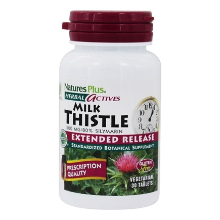 Nature's Plus - Herbal Actives Extended Release Milk Thistle 500 mg. - 30 Tablets