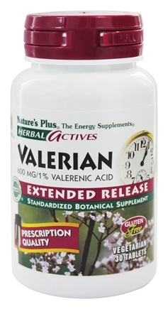 Nature's Plus - Herbal Actives Extended Release Valerian 600 mg. - 30 Tablets