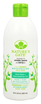 Nature's Gate - Vegan Shampoo Moisturizing Aloe Vera + Macadamia Oil - 18 oz.