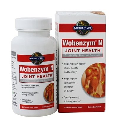 Garden of Life - Wobenzym N Healthy Inflammation and Joint Support - 100 Enteric-Coated Tablets Formerly distributed by Mucos