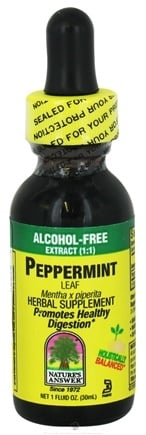 DROPPED: Nature's Answer - Peppermint Leaf Alcohol Free - 1 oz. CLEARANCE PRICED