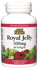 DROPPED: Natural Factors - Royal Jelly 500 mg. - 60 Softgels