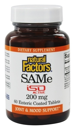 DROPPED: Natural Factors - SAMe iSO Active 200 mg. - 60 Tablets