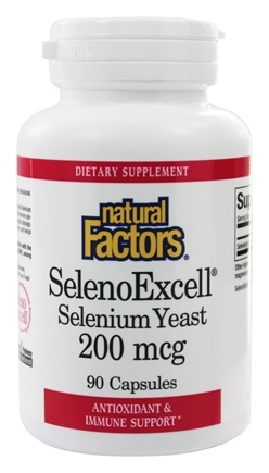 Natural Factors - SelenoExcell Selenium Yeast 200 mcg. - 90 Capsules