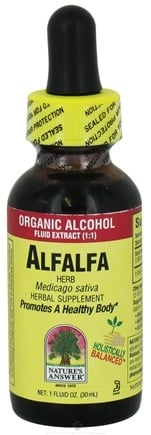 DROPPED: Nature's Answer - Alfalfa Herb Organic Alcohol - 1 oz. CLEARANCE PRICED