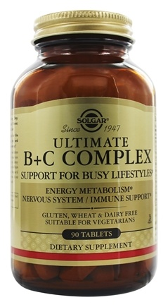 Solgar - Ultimate B+C Complex Stress Formula - 90 Tablets