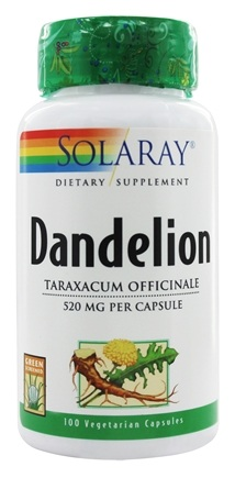 Solaray - Dandelion Root 520 mg. - 100 Capsules