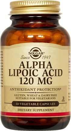 DROPPED: Solgar - Alpha Lipoic Acid 120 mg. - 60 Vegetarian Capsules