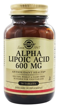 Solgar - Alpha Lipoic Acid 600 mg. - 50 Tablets