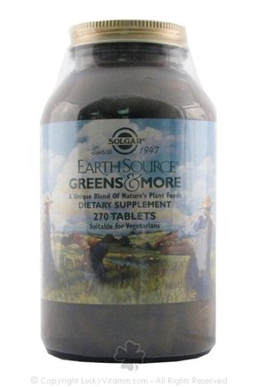DROPPED: Solgar - Earth Source Greens & More 1000 mg. - 270 Tablets